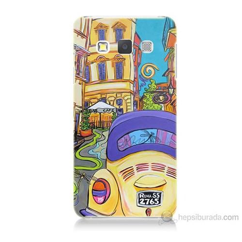 Teknomeg Samsung Galaxy A7 Kapak Kılıf Sarı Wolsvagen Baskılı Silikon