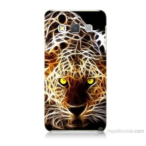 Teknomeg Samsung Galaxy A7 Kapak Kılıf Yanan Aslan Baskılı Silikon