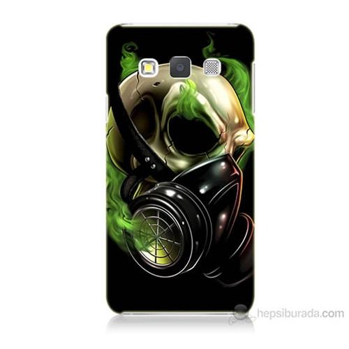Teknomeg Samsung Galaxy A7 Kapak Kılıf Ölüm Maskesi Baskılı Silikon