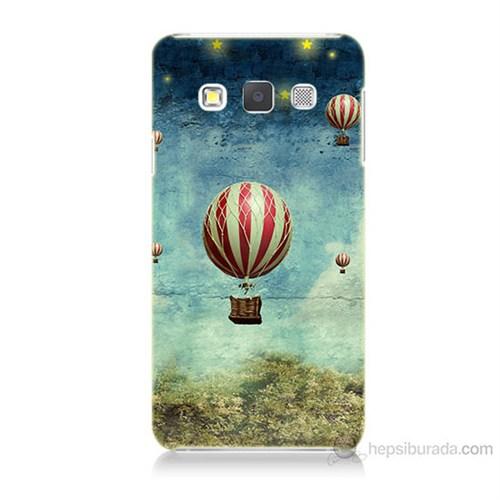 Teknomeg Samsung Galaxy A7 Kapak Kılıf Uçan Balon Baskılı Silikon