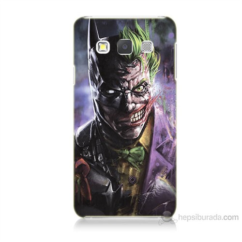 Teknomeg Samsung Galaxy A7 Kapak Kılıf Joker Vs Batman Baskılı Silikon