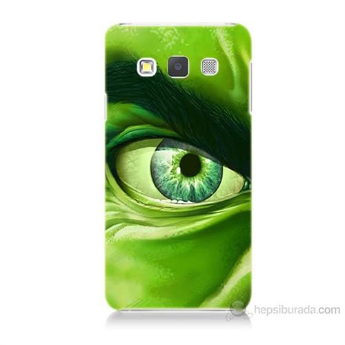 Teknomeg Samsung Galaxy A7 Kapak Kılıf Hulk Yeşil Dev Baskılı Silikon