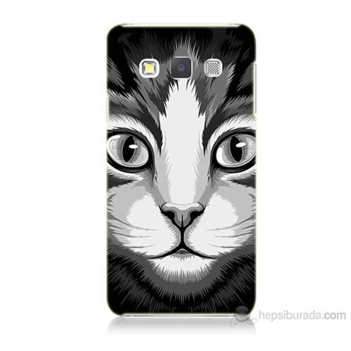 Teknomeg Samsung Galaxy A7 Kapak Kılıf Kedicik Baskılı Silikon