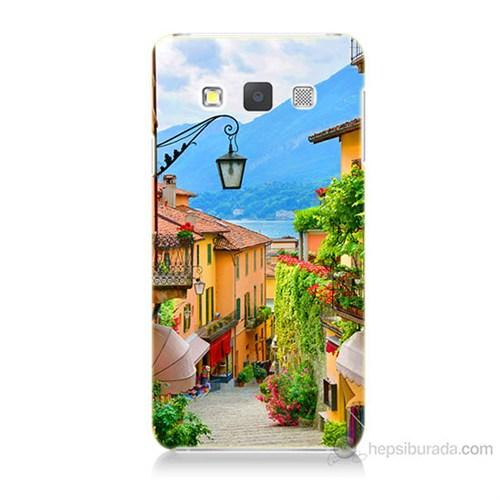 Teknomeg Samsung Galaxy A7 Kapak Kılıf Balkon Manzara Baskılı Silikon