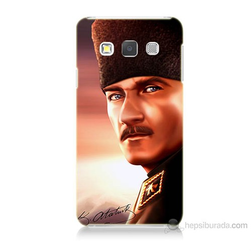 Teknomeg Samsung Galaxy A7 Kapak Kılıf Mustafa Kemal Baskılı Silikon