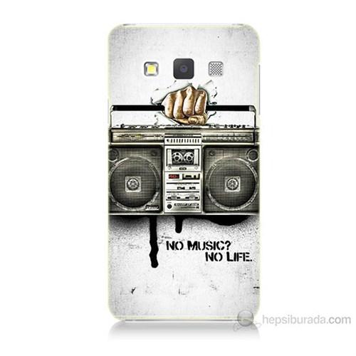 Teknomeg Samsung Galaxy A7 Kapak Kılıf Müzik Hayattır Baskılı Silikon
