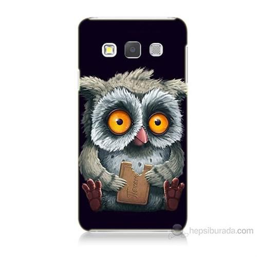 Teknomeg Samsung Galaxy A7 Kapak Kılıf Yavru Baykuş Baskılı Silikon