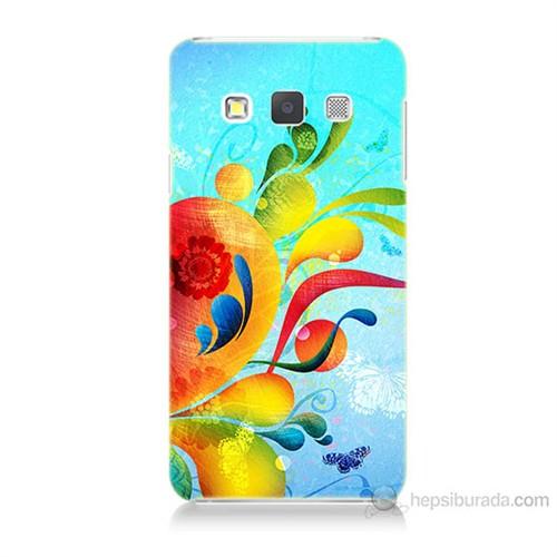 Teknomeg Samsung Galaxy A7 Kapak Kılıf Renkli Desen Baskılı Silikon