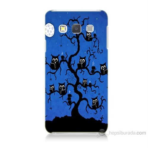Teknomeg Samsung Galaxy A7 Kapak Kılıf Baykuşlar Baskılı Silikon