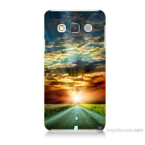 Teknomeg Samsung Galaxy A7 Kapak Kılıf Yol Baskılı Silikon