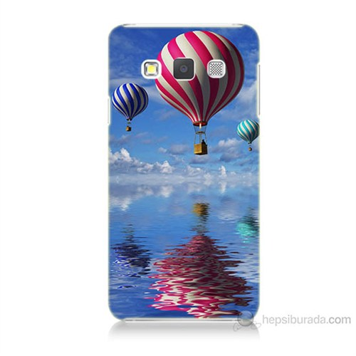 Teknomeg Samsung Galaxy A7 Kapak Kılıf Renkli Balonlar Baskılı Silikon