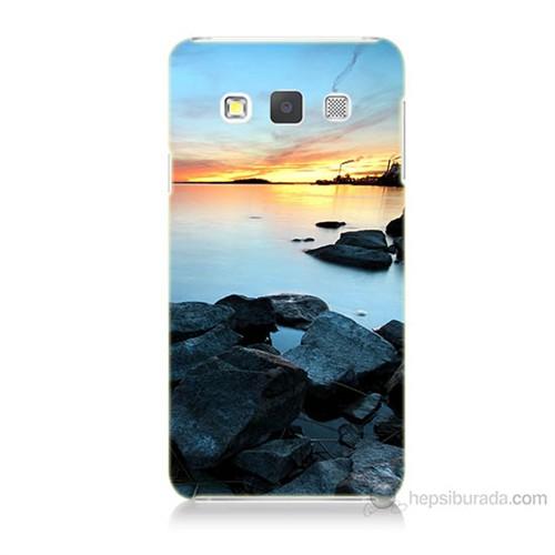 Teknomeg Samsung Galaxy A7 Kapak Kılıf Kayalık Baskılı Silikon