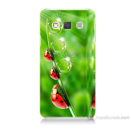 Teknomeg Samsung Galaxy A7 Kapak Kılıf Uğur Böcekleri Baskılı Silikon