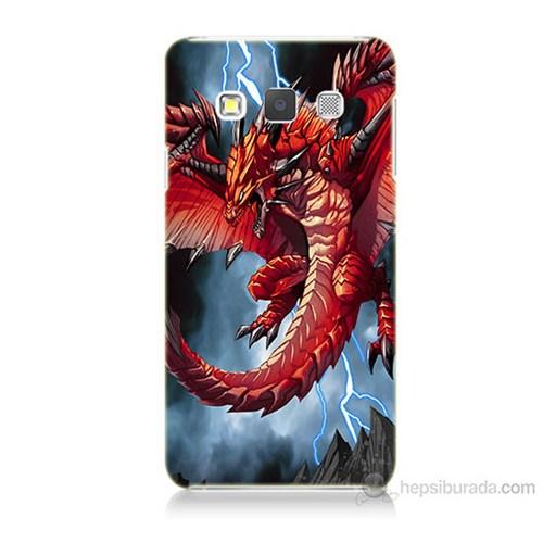 Teknomeg Samsung Galaxy A7 Kapak Kılıf Dragon Baskılı Silikon