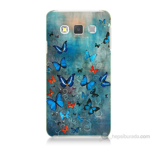Teknomeg Samsung Galaxy A3 Kapak Kılıf Kelebekler Baskılı Silikon