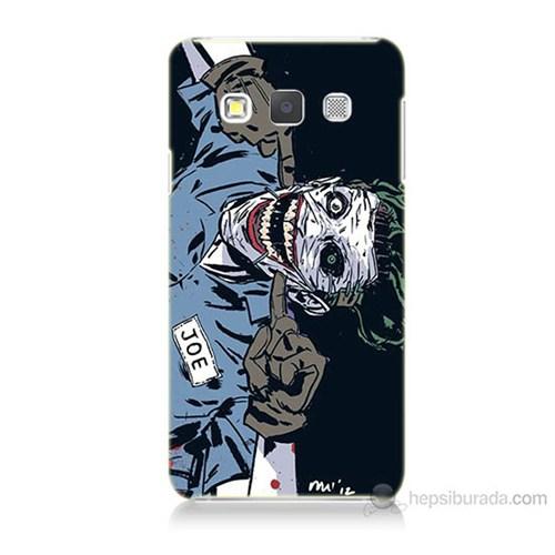Teknomeg Samsung Galaxy A3 Kapak Kılıf Joe Joker Baskılı Silikon