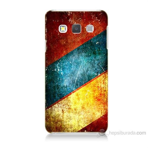 Teknomeg Samsung Galaxy A3 Kapak Kılıf Renkli Metal Baskılı Silikon