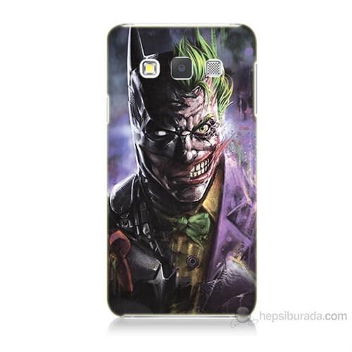 Teknomeg Samsung Galaxy A3 Kapak Kılıf Joker Vs Batman Baskılı Silikon