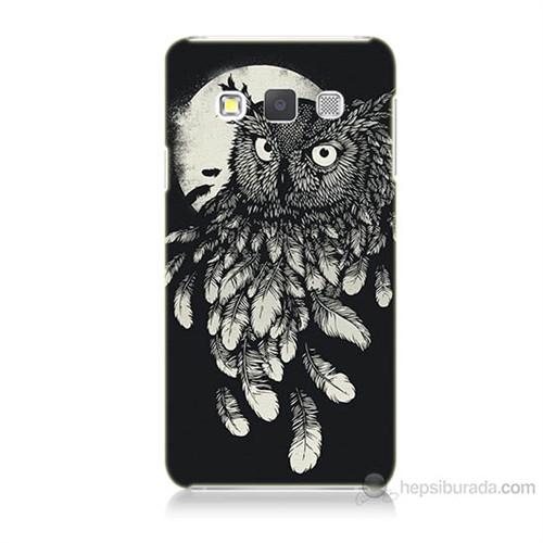 Teknomeg Samsung Galaxy A3 Kapak Kılıf Gece Kuşu Baskılı Silikon
