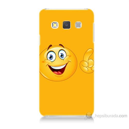Teknomeg Samsung Galaxy A3 Kapak Kılıf Emoji Baskılı Silikon