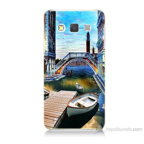 Teknomeg Samsung Galaxy A3 Kapak Kılıf Tekneler Tablo Baskılı Silikon