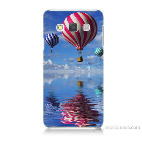 Teknomeg Samsung Galaxy A3 Kapak Kılıf Renkli Balonlar Baskılı Silikon