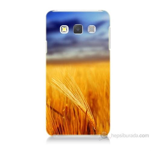 Teknomeg Samsung Galaxy A3 Kapak Kılıf Sarı Mavi Baskılı Silikon