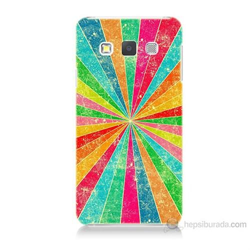 Teknomeg Samsung Galaxy A3 Kapak Kılıf Renk Efekti Baskılı Silikon