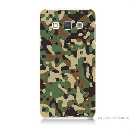 Teknomeg Samsung Galaxy A3 Kapak Kılıf Askeri Kamuflaj Baskılı Silikon