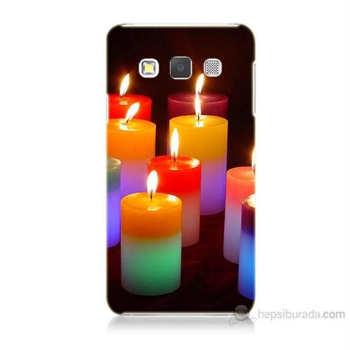 Teknomeg Samsung Galaxy A3 Kapak Kılıf Mumlar Baskılı Silikon