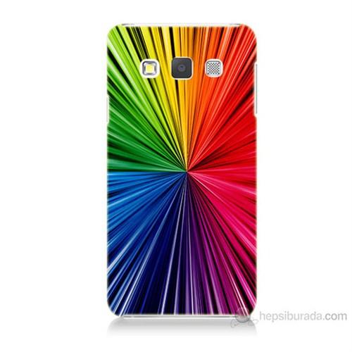 Teknomeg Samsung Galaxy A3 Kapak Kılıf Renkler Baskılı Silikon