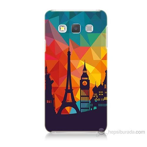 Teknomeg Samsung Galaxy A5 Kapak Kılıf Görkemli Yapılar Baskılı Silikon