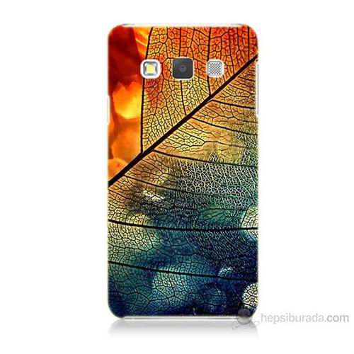 Teknomeg Samsung Galaxy A5 Kapak Kılıf Yaprak Baskılı Silikon