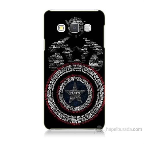 Teknomeg Samsung Galaxy A5 Kapak Kılıf Kaptan Amerika Baskılı Silikon