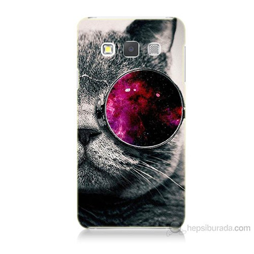 Teknomeg Samsung Galaxy A5 Kapak Kılıf Kedi Baskılı Silikon
