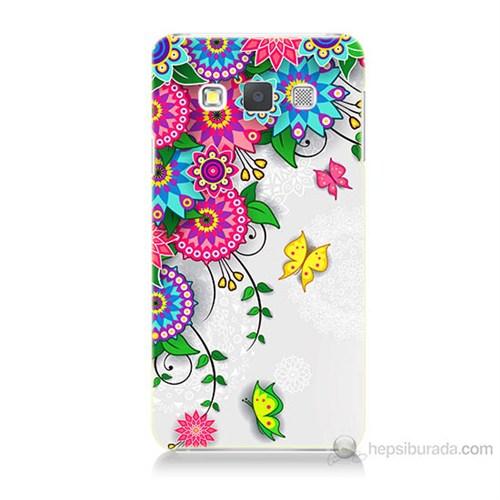 Teknomeg Samsung Galaxy A5 Kapak Kılıf Çiçek Ve Kelebek Baskılı Silikon