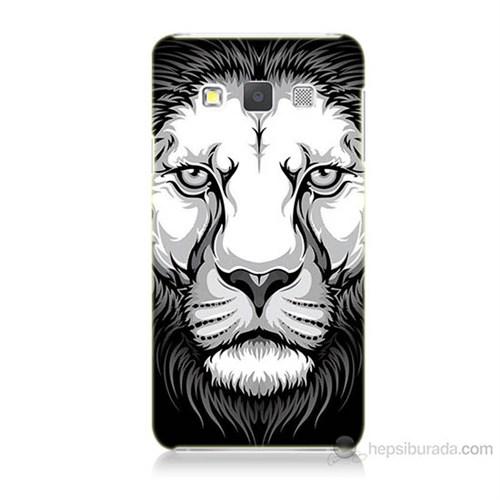 Teknomeg Samsung Galaxy A5 Kapak Kılıf Aslan Baskılı Silikon