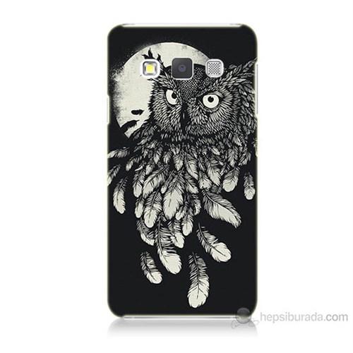 Teknomeg Samsung Galaxy A5 Kapak Kılıf Gece Kuşu Baskılı Silikon