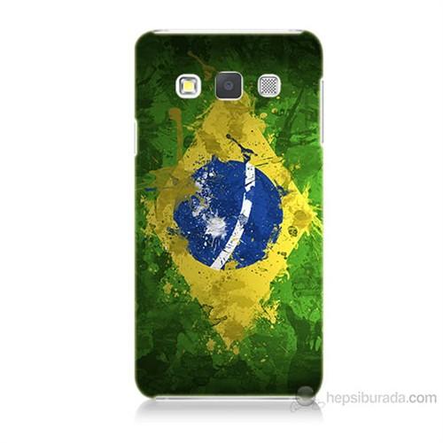 Teknomeg Samsung Galaxy A5 Kapak Kılıf Birezilya Bayrak Baskılı Silikon