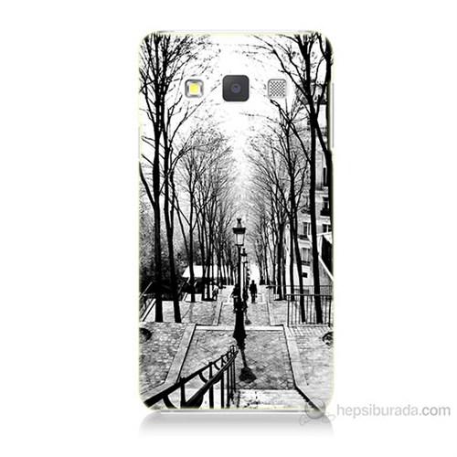 Teknomeg Samsung Galaxy A5 Kapak Kılıf Siyah Beyaz Baskılı Silikon