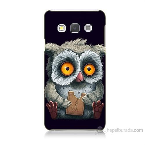 Teknomeg Samsung Galaxy A5 Kapak Kılıf Yavru Baykuş Baskılı Silikon