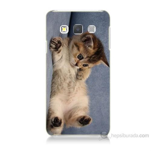 Teknomeg Samsung Galaxy A5 Kapak Kılıf Kedicik Baskılı Silikon