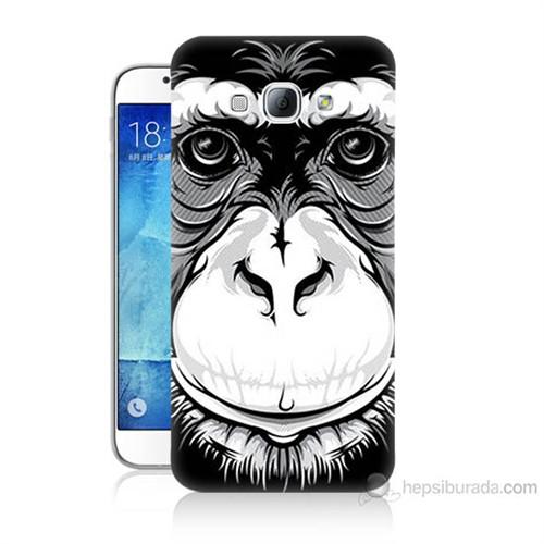 Teknomeg Samsung Galaxy A8 Kılıf Kapak Maymun Baskılı Silikon