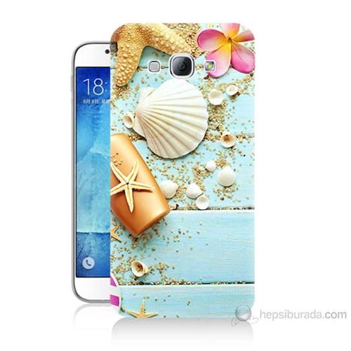 Teknomeg Samsung Galaxy A8 Kapak Kılıf Deniz Kabuğu Baskılı Silikon