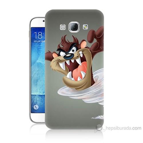 Teknomeg Samsung Galaxy A8 Kapak Kılıf Tazmanya Canavarı Baskılı Silikon