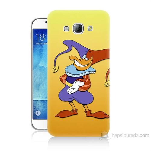 Teknomeg Samsung Galaxy A8 Kapak Kılıf Palyaço Baskılı Silikon