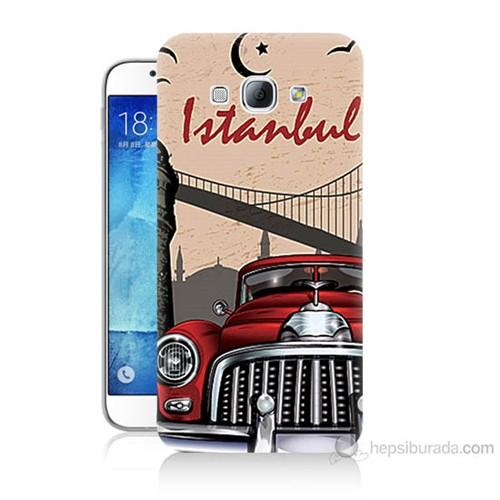 Teknomeg Samsung Galaxy A8 Kapak Kılıf İstanbul Baskılı Silikon