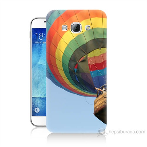 Teknomeg Samsung Galaxy A8 Kapak Kılıf Uçan Balon Baskılı Silikon