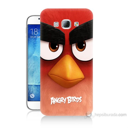 Teknomeg Samsung Galaxy A8 Kapak Kılıf Angry Birds Baskılı Silikon