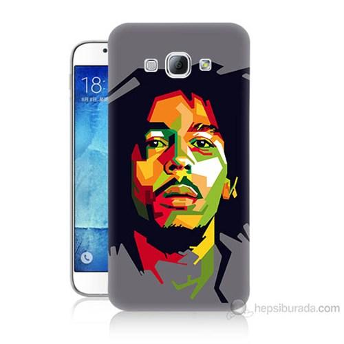 Teknomeg Samsung Galaxy A8 Kapak Kılıf Bob Marley Baskılı Silikon